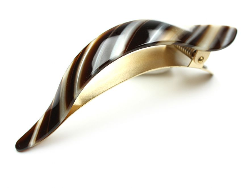 Ficcare Maximas Clip: French Acetate - Espresso Stripes