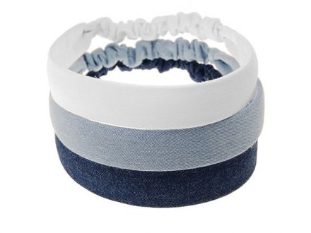 Elastisches Haarband - Denim