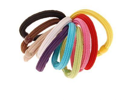 6 Stück elastische Haargummis Haarbinder Zopfgummi Haarband schwarz SOLIDA