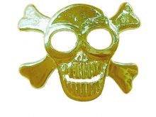 Hair Hook: Gold - Skull