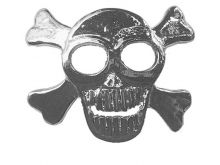 Hair Hook: Silber - Skull